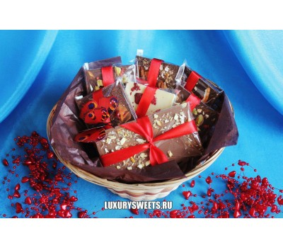 Корзина с шоколадом ручной работы Мини 2