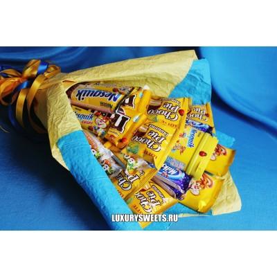 Букет из шоколадных батончиков Солнечный зайчик