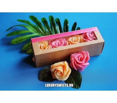 Мыло ручной работы Розы в коробочке
