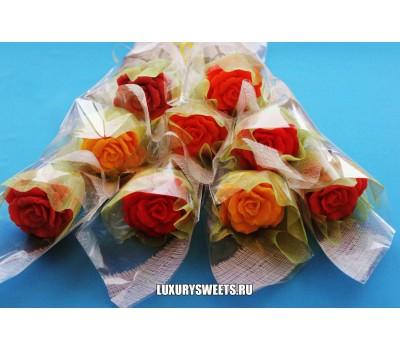 Букет из мыла ручной работы Мыльная роза 2