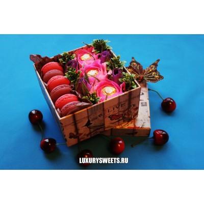Композиция из конфет Сладость в радость! розовый