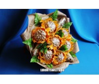 Мужской букет-закуска из вяленой рыбы, фисташек Ностальжи