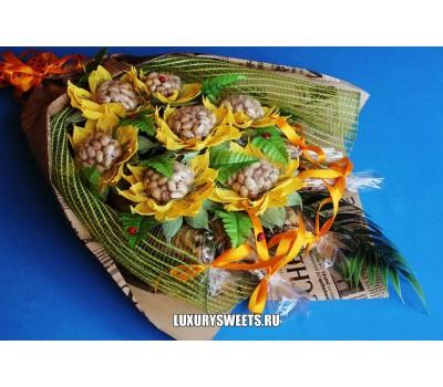 Мужской букет-закуска из вяленой рыбы и фисташек Ностальжи лайт