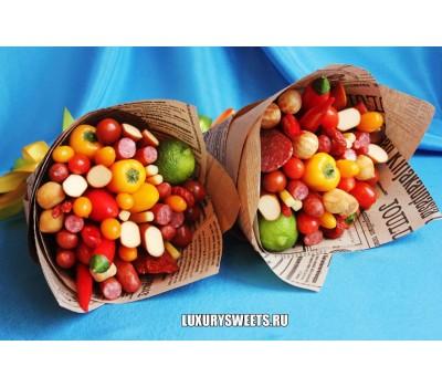 Мужской букет-закуска из колбасы и овощей Акуна матата