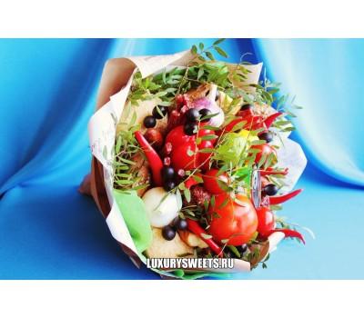 Мужской букет-закуска из колбасы Барбекю