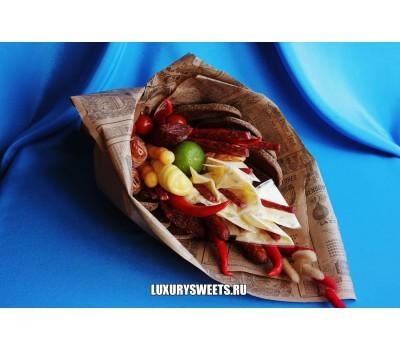 Мужской букет-закуска из колбасы  Мужской каприз