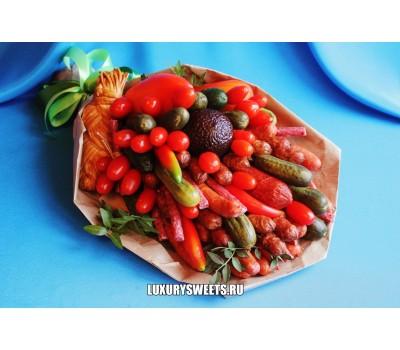 Мужской букет-закуска из колбасы  Мясной провиант