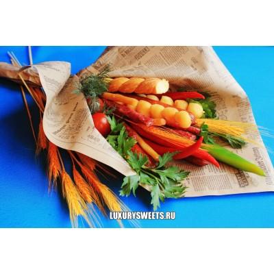 Мужской букет-закуска из колбасы Фигаро
