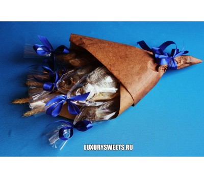 Мужской букет-закуска из вяленой рыбы Провокация