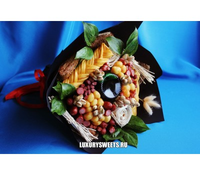 Мужской букет-закуска из колбасы Black Star
