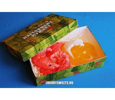 Мыло ручной работы Набор в коробочке Пенный с креветками