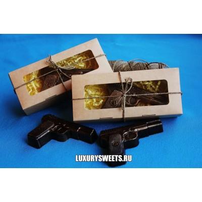 Мыло ручной работы Набор в коробочке Пистолет