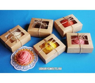 Мыло ручной работы Набор в коробочке Пирожное