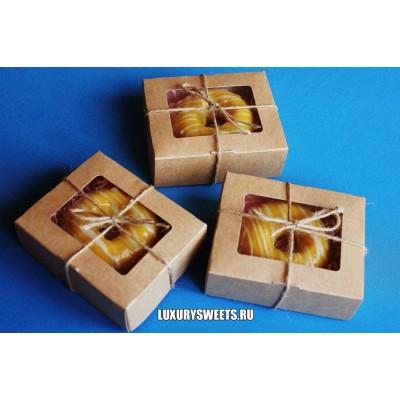 Мыло ручной работы Набор в коробочке Пончик