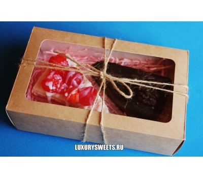Мыло ручной работы Набор в коробочке Вкусный