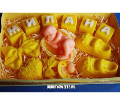 Мыло ручной работы Набор для малыша Жёлтый
