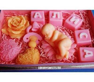 Мыло ручной работы Набор для малыша Розовый