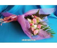 Букет из мыла ручной работы Розовые розы 3