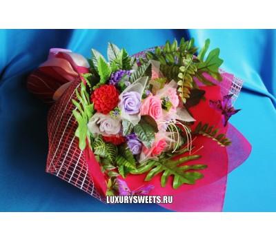 Букет из мыла ручной работы Сибирская роза