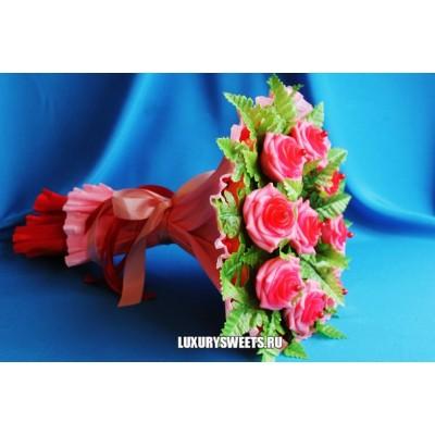 Букет из мыла ручной работы Розовые розы 4
