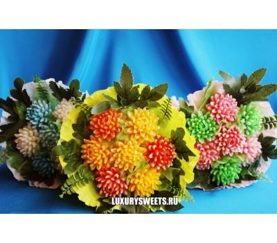Букет из мыла ручной работы Красивые хризантемы