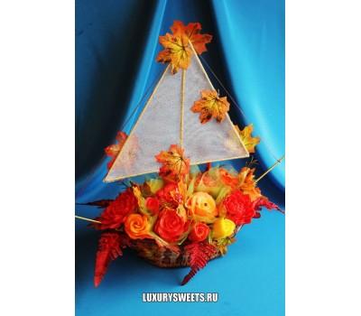 Корабль из мыла ручной работы Осенняя звезда