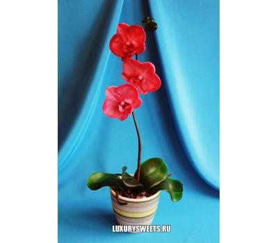 Орхидея в горшочке из мыла ручной работы Фламенко