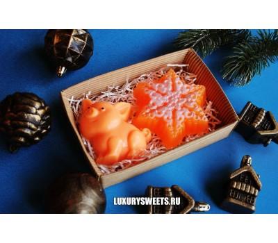 Мыло ручной работыНабор новогодний orange