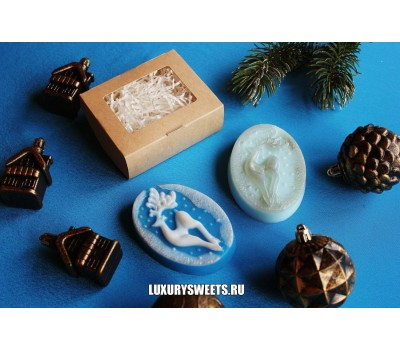 Мыло ручной работыСказочный олень в коробочке