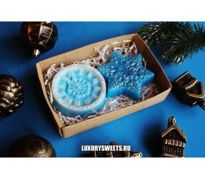 Мыло ручной работыНабор новогодний blue 2