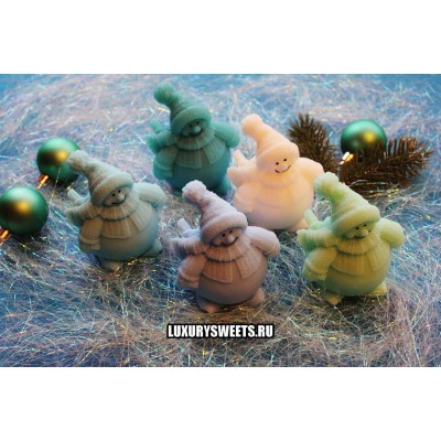 Мыло ручной работы Весёлый снеговик