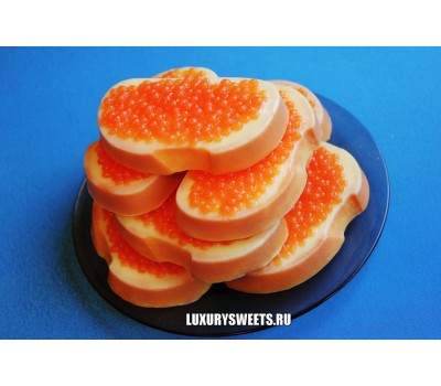 Мыло ручной работы Бутерброд с красной икрой