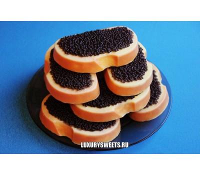Мыло ручной работы Бутерброд с чёрной икрой
