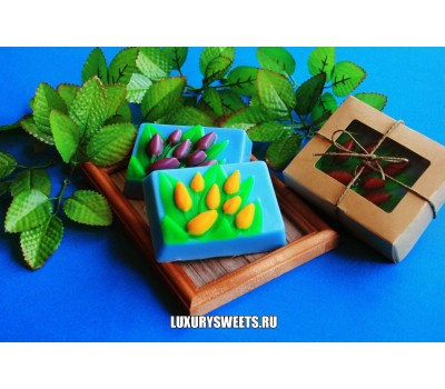 Мыло ручной работы  Набор в коробочке Тюльпаны