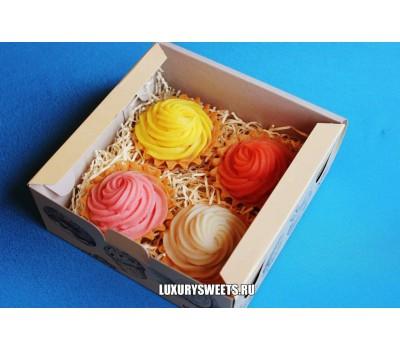 Мыло ручной работы Пирожные в коробочке Заварные