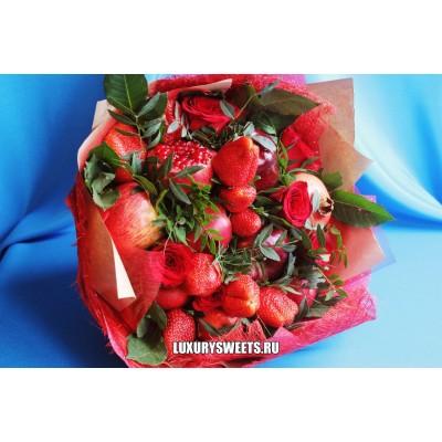 Букет из фруктов и роз Фруктовое танго