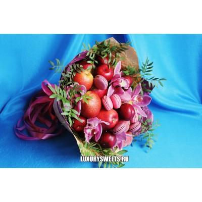 Букет из фруктов и орхидей Роксетт