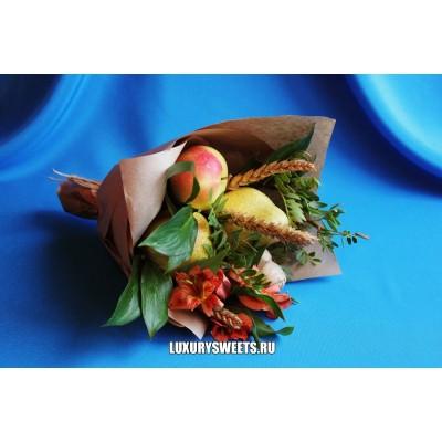 Букет из фруктов и цветов Витаминчик