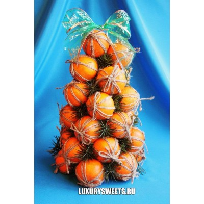 Композиция из фруктов Ёлочка мандариновая