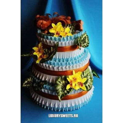 Торт из памперсов Маленький эльф 2
