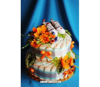 Торт из памперсов Монпансье 2