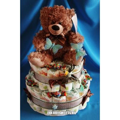 Торт из памперсов Мой ласковый и нежный