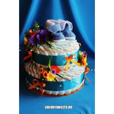 Торт из памперсов Монпансье