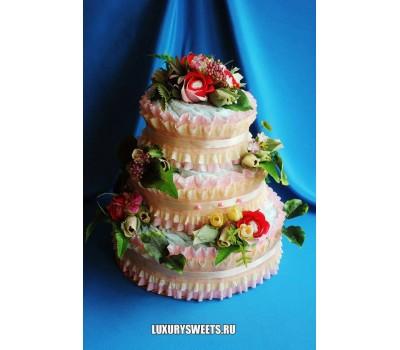 Торт из памперсов Цветочная фея 2