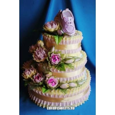 Торт из памперсов Принцесса