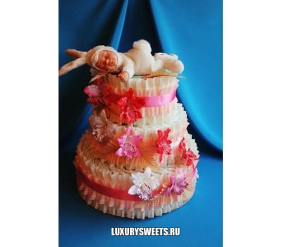 Торт из памперсов Милая зайка