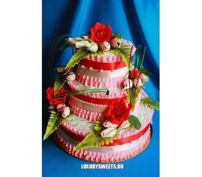 Торт из памперсов Цветочная фея