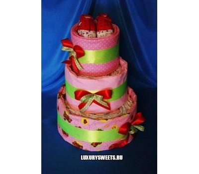 Торт из памперсов Розовая мечта