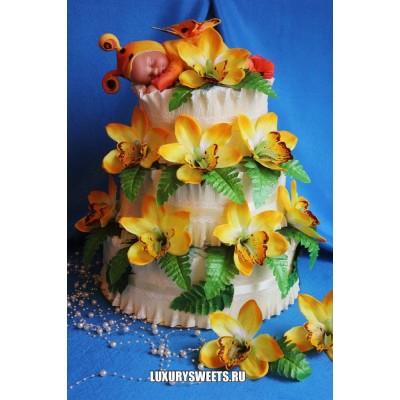 Торт из памперсов Маленький эльф