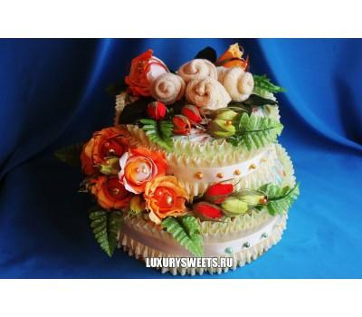 Торт из памперсов Радужница
